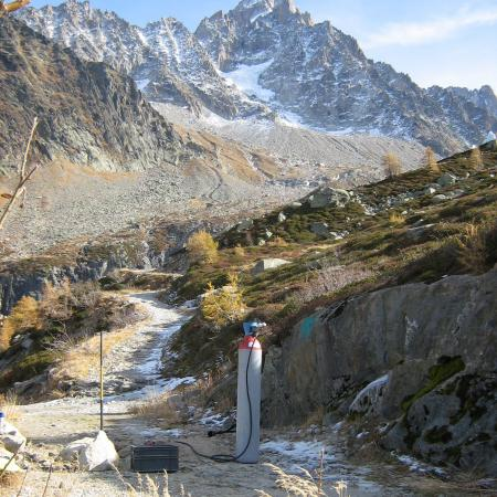 recherche de fuite au gaz traçeur à l'azote/hydrogène au mont blanc